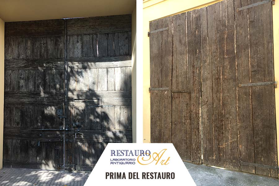 Come Restaurare Una Porta Di Legno.Restauro Porte E Portoni Bologna Modena Restauro Portoni Antichi